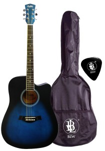 Mukita by BLW 41 Inch Acoustic Guitar Package SD410 (Blue)