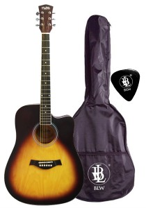 Mukita by BLW 41 Inch Acoustic Guitar Package SD410 (Sunburst)