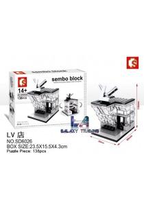 Sembo Block SD6026 LV Shop mini street city building blocks (Lego Compatible)