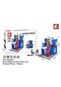 Sembo Block SD6027 Pepsi' mini street city building blocks (Lego Compatible)