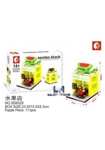 Sembo Block SD6028 Fruit Shop mini street city building blocks (Lego Compatible)