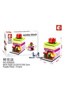 Sembo Block SD6029 Flower Shop mini street city building blocks (Lego Compatible)
