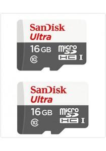 Sandisk (SDSQUNB-016G-GN3MN-2U) 16GB Ultra microSDHC 2Units