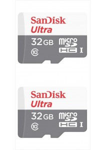Sandisk (SDSQUNB-032G-GN3MN-2U) 32GB Ultra microSDHC 2Units