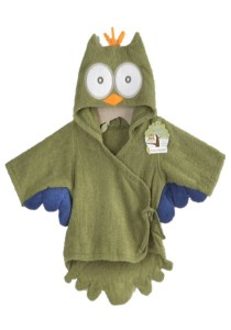 Cartoon Cotton Towel Bathrobes - CCTB (Green Owl)