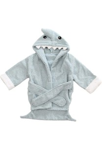 Cartoon Cotton Towel Bathrobes - CCTB (Green Shark)