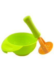 Baby Food Fruits Supplement Grinding Tool & Bowl - BKM13 (Green)