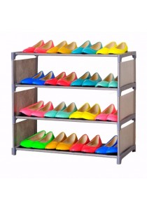 Pequeña 4 Tier Column Shoe Rack (Grey)