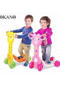 SOKANO Giraffe Design 4 Wheels Kid Scooter