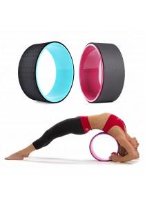 SOKANO Yoga Wheel Premium Back Roller and Stretcher with Cushion- Green