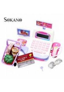 SOKANO Cash Register Toy Supermarket Toy Display and Scanning Function