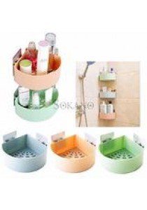 BUNDLE SET OF 3: SOKANO Large Capacity Bathroom Corner Storage Rack