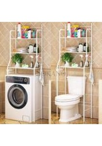 SOKANO MTJ01 3 Tiers Bathroom and Toilet Organizer Shelves- White