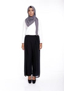 Modest Wrap Skants (Skirt-Meet-Pants) in Black