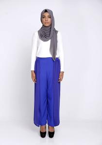 Modest Wrap Skants (Skirt-Meet-Pants) in Electric Blue