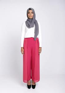 Modest Wrap Skants (Skirt-Meet-Pants) in Magenta