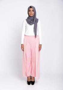 Modest Wrap Skants (Skirt-Meet-Pants) in Peach