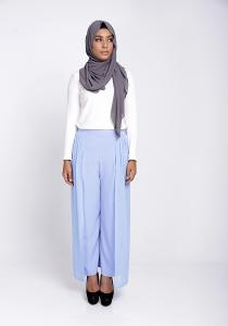 Modest Wrap Skants (Skirt-Meet-Pants) in Serenity