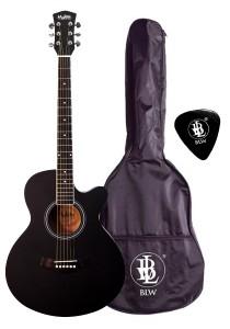 Mukita by BLW 40 Inch Acoustic Guitar for Beginner SO400 (Black)