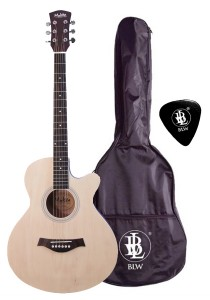 Mukita by BLW 40 Inch Acoustic Guitar Package for Beginner (Natural)