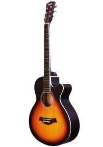 Mukita by BLW 40 Inch Acoustic Guitar Beginner Package SO400 (Sunburst)