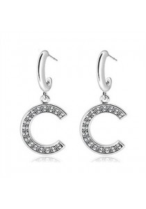 Coco Inspire White Gold Earrings