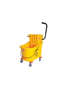 Mop Bucket with Wringer, IMEC SP31 - 3-in-1 Super Dry Mopping Bucket, 36L (Yellow)