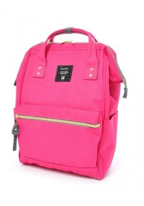 100% Authentic Anello (Mini) Backpack - Polyester Canvas Light Pink
