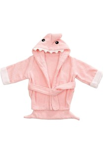 Cartoon Cotton Towel Bathrobes - CCTB (Pink Shark)