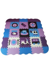 Meitoku Joint Crawling Foam Puzzle Play Mat - Map01 (Purple)