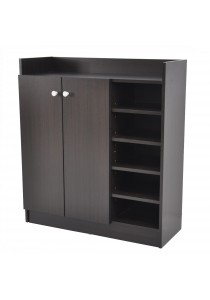 Texas 2-Door Entryway Shoes Storage Cabinet in Wenge Finished