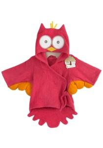 Cartoon Cotton Towel Bathrobes - CCTB (Red Owl)