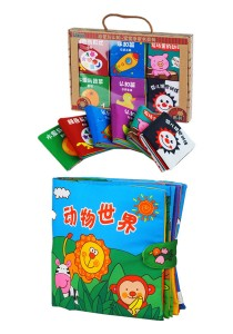6 Mini Cloth Books Cum Cloth Book Animals World 0-3 Years Old [BKM02+BKM03]
