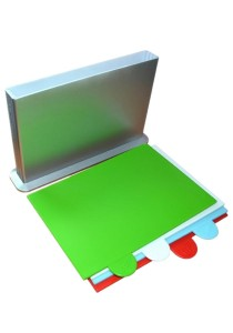 4 Colour Coded Polypropylene Chopping Boards -cbk-cpd-06