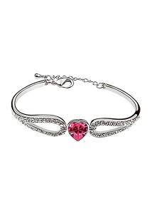 LinkedinLove Swarovski Sweet Girl Heart Bracelet (Pink)