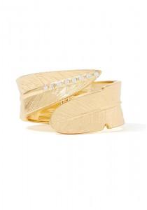 LOVENGIFTS Leaf Crystal Wrap Bracelet