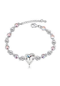 LinkedinLove Swarovski Sweetheart Bracelet (White)