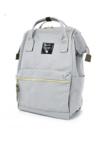 100% Authentic Anello - Classic Backpack Regular Light Grey