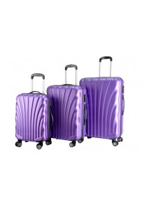 "Shell Curve Shape Travel Luggage Bag ABS Hard Case 20"" 24"" 28"" (3in1)"
