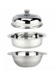 Idea Multi Purpose UFO Steamer Cookware Pot 32cm (Silver)
