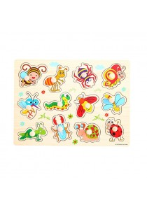 Educational Learning Wood Puzzle - Insect And Animal