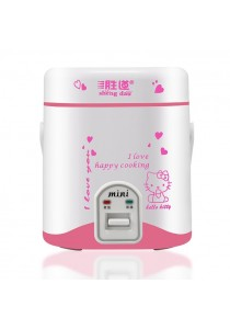 Portable Travel 1.2L Rice Cooker - Pink