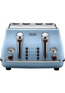 Delonghi CTOV4003.AZ Stainless Steel Toaster 4-Slice Azure