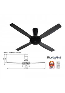 Panasonic F-M14C5 DG Ceiling Fan BAYU-E RC 4 Blade Dark Grey