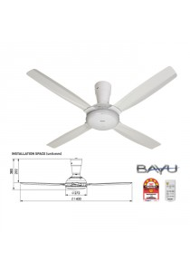 Panasonic F-M14C5 WT Ceiling Fan BAYU-E RC 4 Blade White