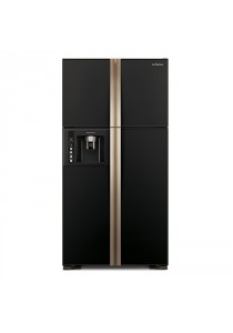 Hitachi R-W720P3M GBK Fridge 4DR G586L Inverter Water Dispenser Black