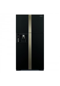 Hitachi R-W750FPMX GBK Fridge 4DR G638L Inverter Water Dispenser Glass Black