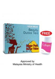 Total Image Beauty Dutox Tea 50 sachets FREE Collagen 10 tablets