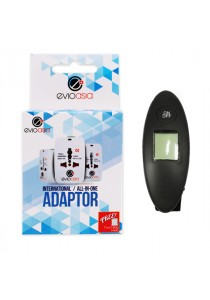 2-in-1 Travel Kit includes Luggage Scale and Travel Adapter