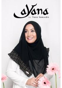 Hijab&Me - AYANA Tweed Cantik (Black)